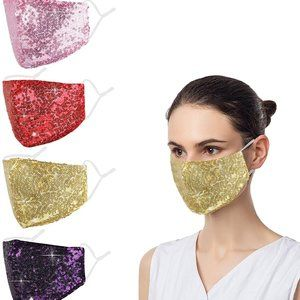 ⬇️ Sequin Bling Sexy Glitter Adjustable Face Mask
